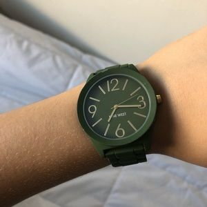 Military green Nine West watch